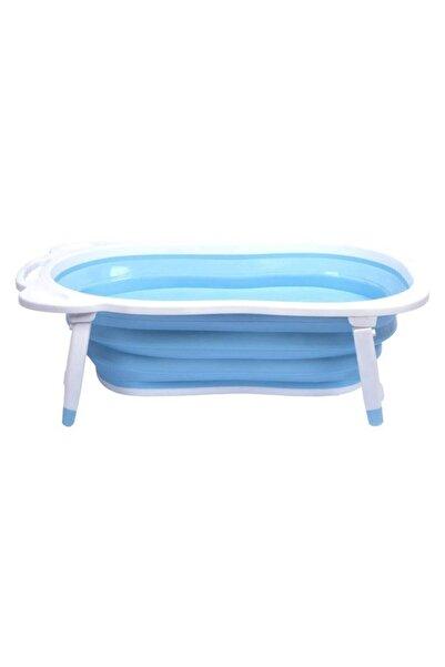 KASTAMONU PLASTİK Bebek Mavi Katlanır Portatif Yer Kaplamaz  Banyo Küveti