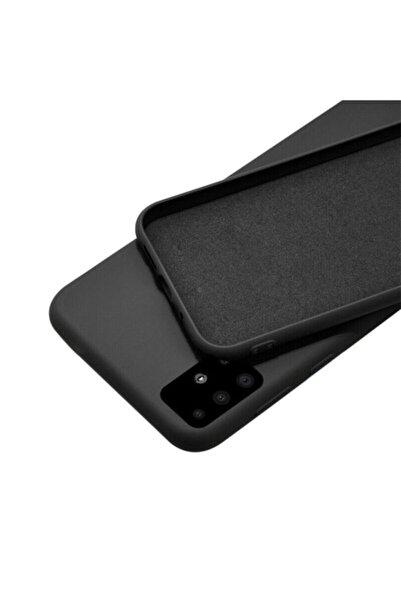FlueTech Samsung Galaxy M21  uyumlu  Siyah Renk Kadife Tabanlı Nicelans Kılıf