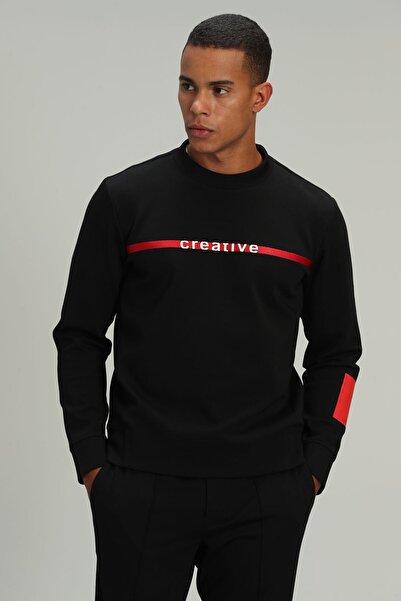 Lufian Based Erkek Sweatshirt Siyah