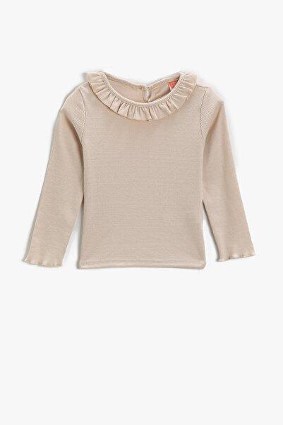 Koton Kız Bebek Bej T-Shirt 2KMG19325ZK