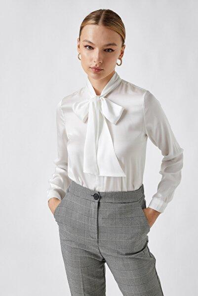 Koton Kadın Kırık Beyaz Gömlek 2KAK66351IW