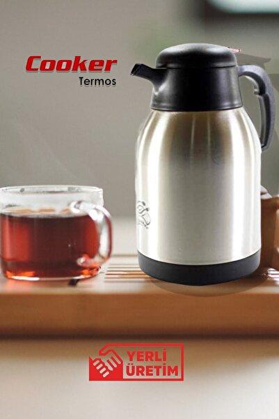 Cooker Ckr2005 2 Litre Termos 304 Çelik Piknik Kamp Servis Ve Ikram Için Su Meşrubat Çay Termosu