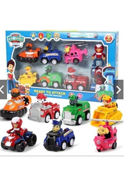PAW PATROL Paw Petrol Devriyesi Oyun Seti 9 Cm Figür Araçlar Fonksiyonlu Haraketli Karakter Figürler Oyuncaklar