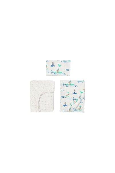 IKEA 60x120 cm Bebek Çocuk Nevresim Takımı 3 Parça Meridyendukkan %100 Pamuk Natürel