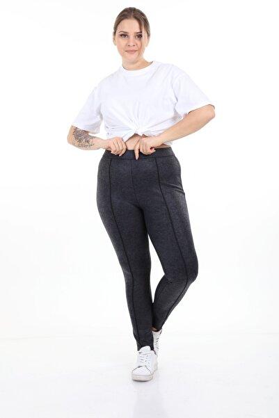 Piano Luce Schık Kadın Büyük Beden Power Likra Kumaş Tayt Pantolon
