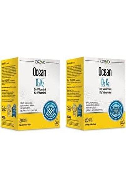 Ocean Vitamin D3k2 Damla 20 ml 2'li Paket