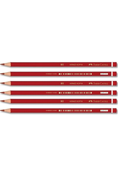 Faber-Castell Yayınları Faber Kırmızı Renkli Kurşun Kalem 1410 6 Lı Paket (1131410000)