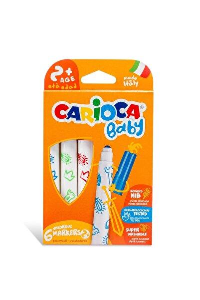 Eybi Kİds Carioca Bebek Süper Yıkanabilir 6'lı Keçeli Boya Kalemleri