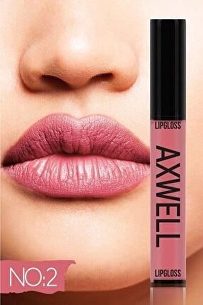 Axwell Uzun Süre Kalıcı Hızlı Kuruyan Kolajenli Mat Likit Ruj- Lipgloss No:2 5ml