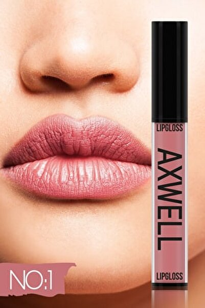Axwell Uzun Süre Kalıcı Hızlı Kuruyan Kolajenli Mat Likit Ruj- Lipgloss No:1 5ml
