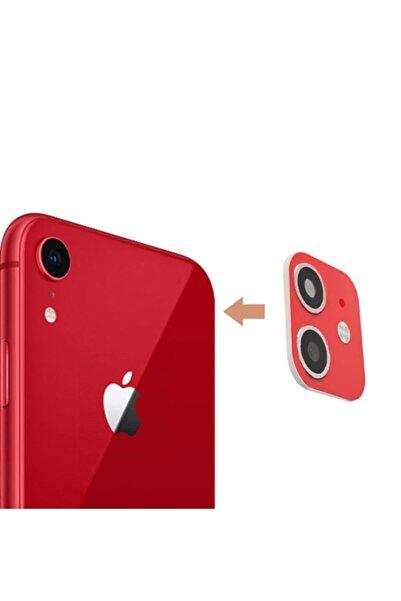 MobilCadde Iphone Xr To Iphone 11 Çeviren Kırmızı Kamera Koruyucu
