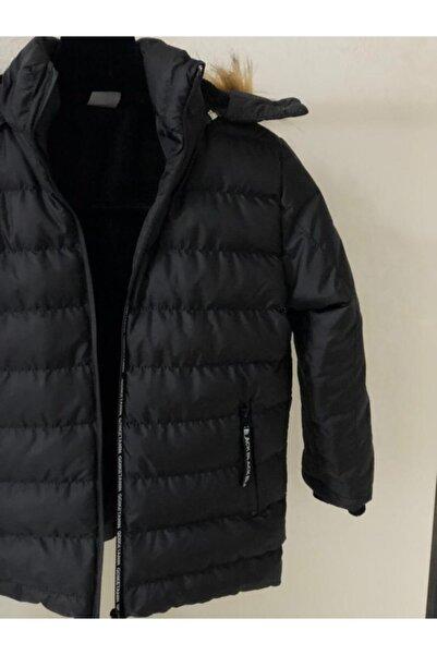 Fumos Fashion Suni Kürklü Peluş Astarlı Çıkarılabilir Kapüşonlu Mont Erkek Çocuk Mont