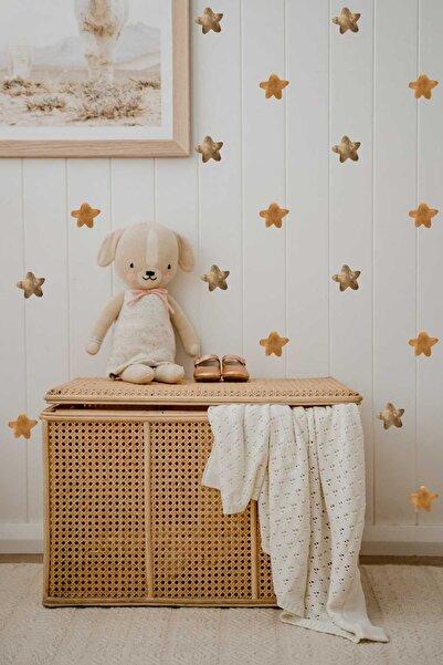 Piksel Grafik Brown Yıldızlar Çocuk Odası Duvar Sticker