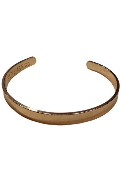 Accessories Altın Rengi Çelik Kelepçe Bileklik