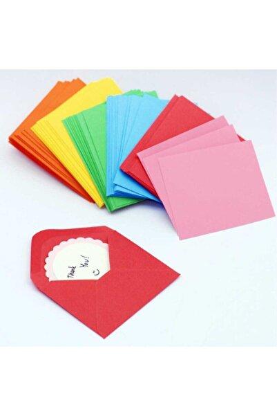 ASİL ZARF Renkli Zarf - Küçük Zarf - Oyun Zarfı - Minik Renkli - Doğum Günü Zarfı - 100 Adet - 7x9 Boyut
