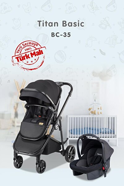 Baby Care Bc 35 Tıtan Basıc Aluminyum Travel Puset Siyah