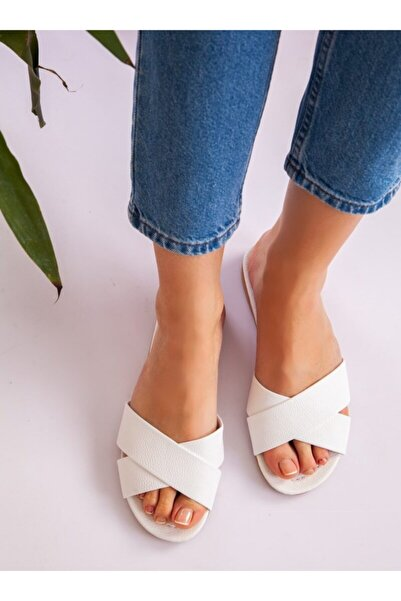 ayakkabıhavuzu Kadın Beyaz Terlik