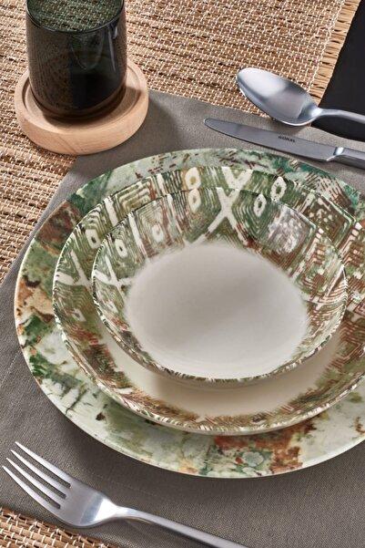 Güral Porselen Güral Atina 18 Parça 6 Kişilik Bone Yemek Takımı