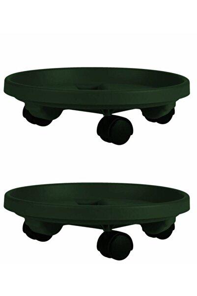HomeCare Tekerlekli Saksı Altlığı Seti Yeşil 714456
