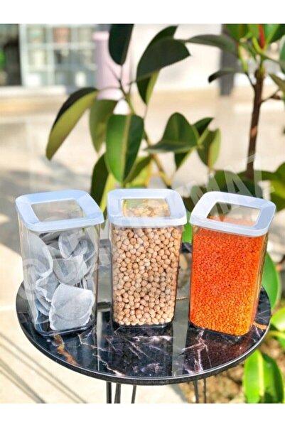 VİP AHMET Sert Plastik 9 Adet 1200 ml Vakumlu Hava Almaz Dikdörtgen Saklama Kabı