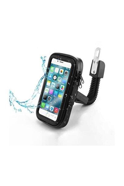OEM Motosiklet Bisiklet Telefon Tutucu Suya Dayanıklı Medium Ayna Bağlantılı