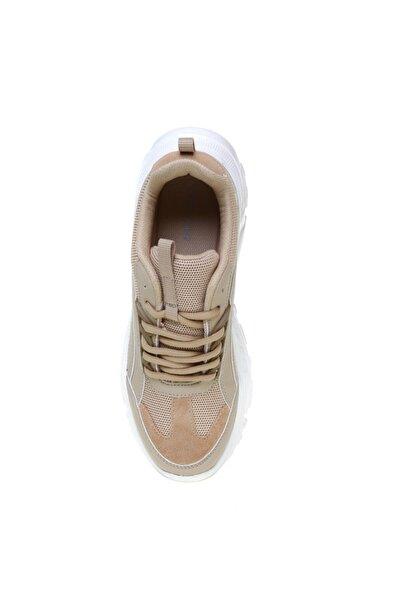 Fabrika Deri Bej Kadın Sneaker
