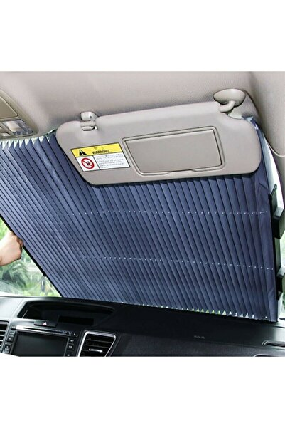 Kamardey 65 Cm Araç Ön Cam Güneşlik Otomatik Geri Çekilebilir Katlanabilir 65x150 Santim Tüm Araçlara Uyumlu