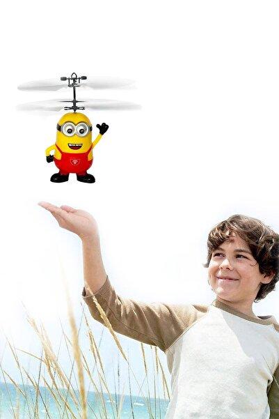 epazzar Uçan Minyon Dron Hareket Sensörlü Usb Şarjlı Minions Dron Oyuncak Kırmızı