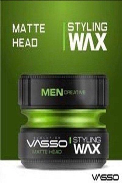 Vasso Men Ultra Güçlü Tutuş Ve Ultra Mat Görünüm Sağlayan Matte Head Wax 150 ml