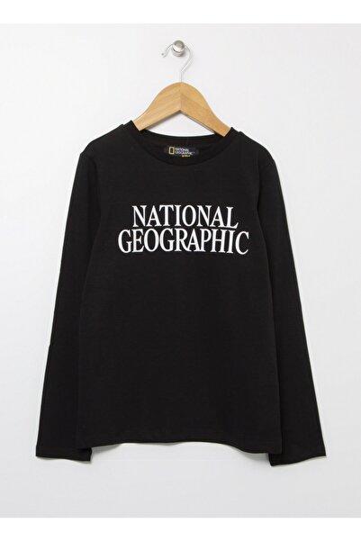 NATIONAL GEOGRAPHIC Siyah Bisiklet Yaka Kız Çocuk T-shirt