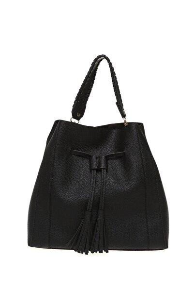 Fabrika Siyah Kadın Torba Çanta