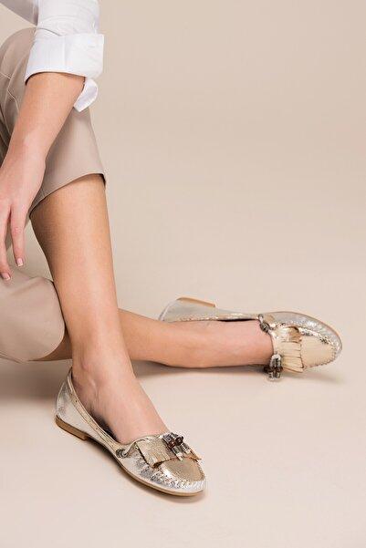 İnci Hakiki Deri Gümüş Kadın Ayakkabı 120120266013