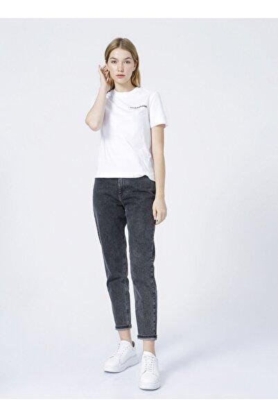 Calvin Klein Yuvarlak Yaka Beyaz Kadın T-shirt