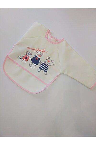 Veo Baby Kız Bebek Kollu Silinebilir Mama Önlüğü