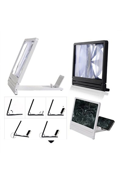 Acr Universal Telefon Tablet Ekran Buyütucu Standlı Projektör Aleti
