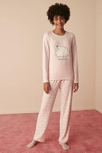 Penti Lıla Sheepicorn Termal Pijama Takımı
