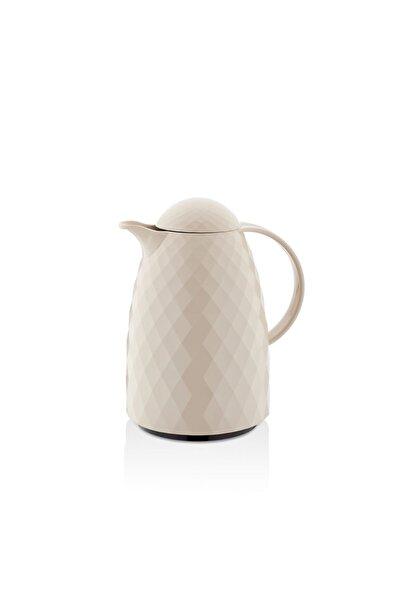 EW's Kitchenware 1 Lt Prizma Sütlü Kahve Düz Kapaklı Termos