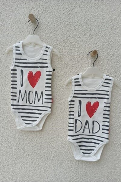 Nayinom I Mom I Dad Yazılı Ikili Zıbın