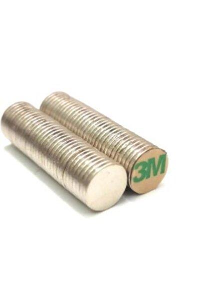 Hdg Yapışkanlı Neodyum Mıknatıs D10x1mm Çap - 60 Adet - Güçlü Neodyum Mıknatıs Magnet