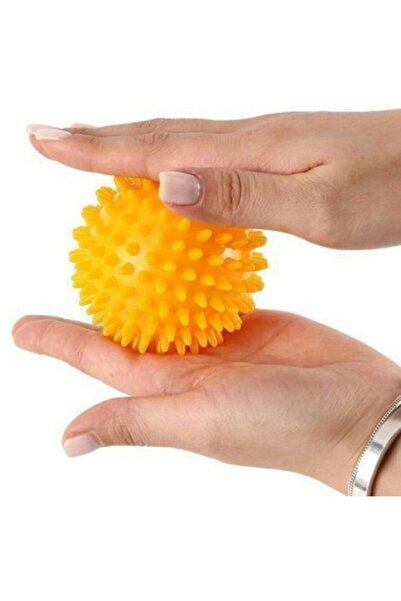 Türkmedical Duyu Uyarıcı Dikenli Masaj Topu Egzersiz Topu Sert 6 Cm -sarı