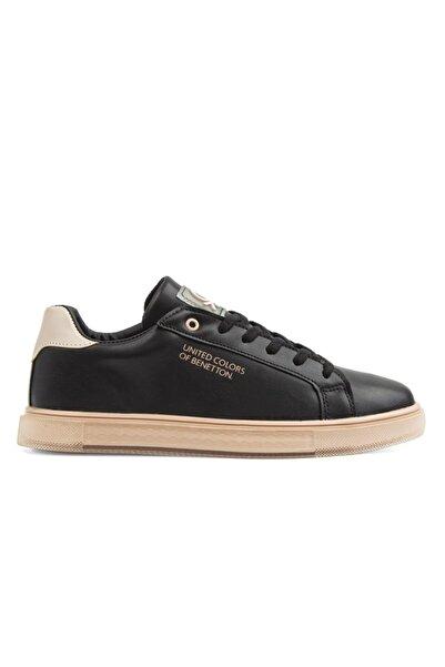 Benetton Bn-30371 Kadın Ayakkabı Siyah-pudra