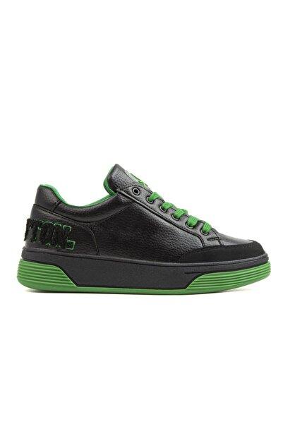 Benetton Bn-30367 Kadın Spor Ayakkabı Siyah-yeşil