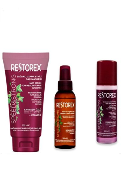 Restorex Saç Maskesi 200 ml Sıvı Saç Kremi 200 ml Argan Yağ 100 ml 5002951 5005773 5005770