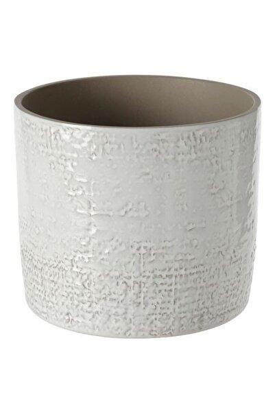 IKEA Chıafrön 15 Cm Stoneware Beyaz Saksı