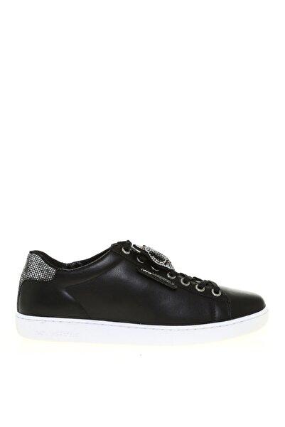 Karl Lagerfeld Kadın Beyaz-gümüş Kupsole Iı Ikonic Twin Sneaker