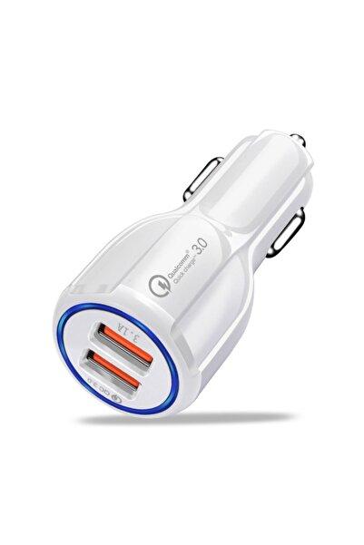 TEKNOHANE 3.0 Qualcomm 2 Usb Hızlı Araç Şarjı Cihazı Çakmaklık 6 Amper