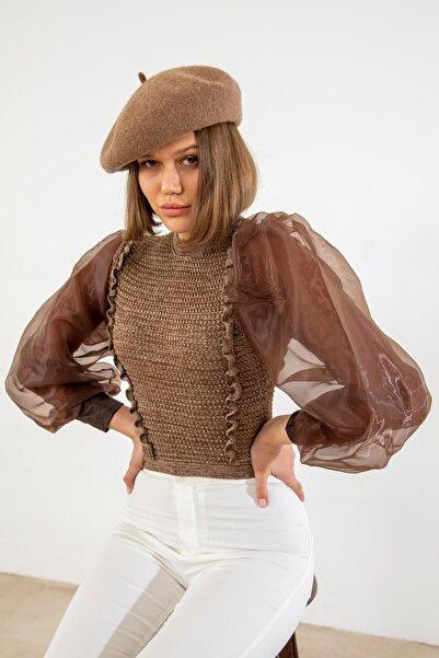 by FATMA YİĞİTUŞAĞI Zara Model Kolları Tül Bluz