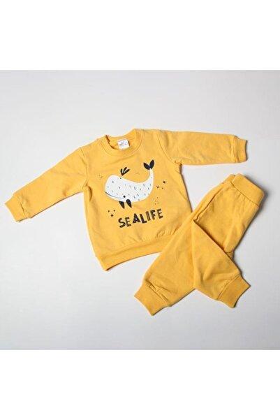 Misket Yunus Baskılı Astarlı Kışlık Pijama