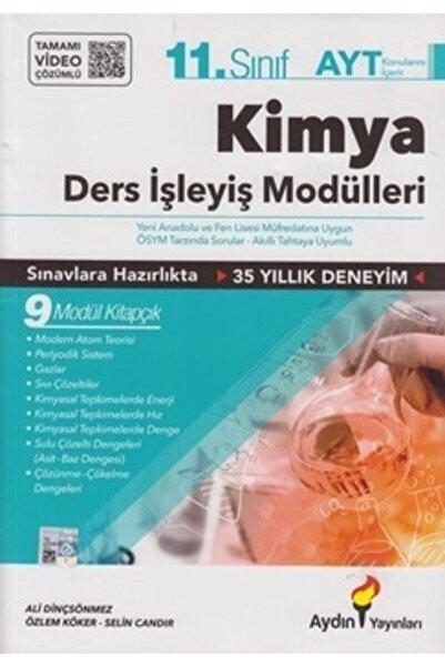 Aydın Yayıncılık 11. Sınıf Kimya Konu Anlatım Ders Işleyiş Modülleri Set Tamamı