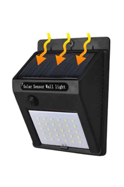 ALLES Solar Güneş Enerjili Şarj Olabilen 20 Ledli Bahçe Lambası Gece Gündüz Sensörlü